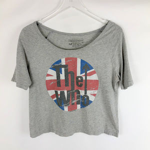 THE WHO Graphic Band Cropped Tee